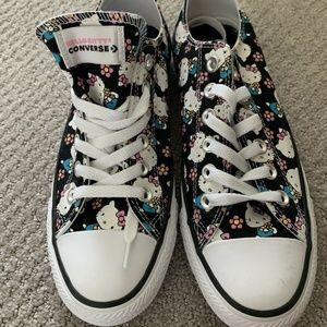 Converse X Hello Kitty Chucks Black Low Top Size 7